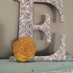DIY Modge Podge Letter