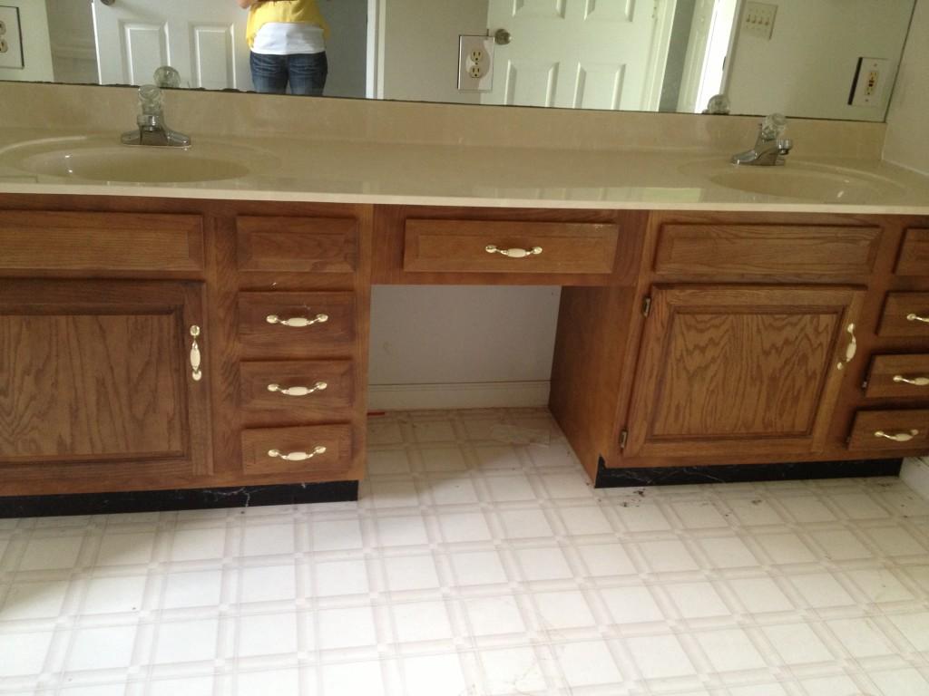 Master Bathroom before renovations