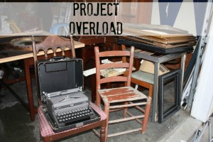 Project overload! Garage full of auction and yard sale finds ready to be re-fabbed.