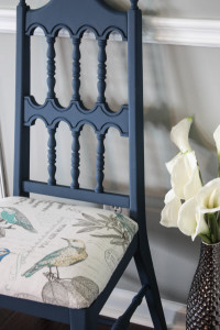 Free auction chair gets revived with Lonestar blue chalk paint