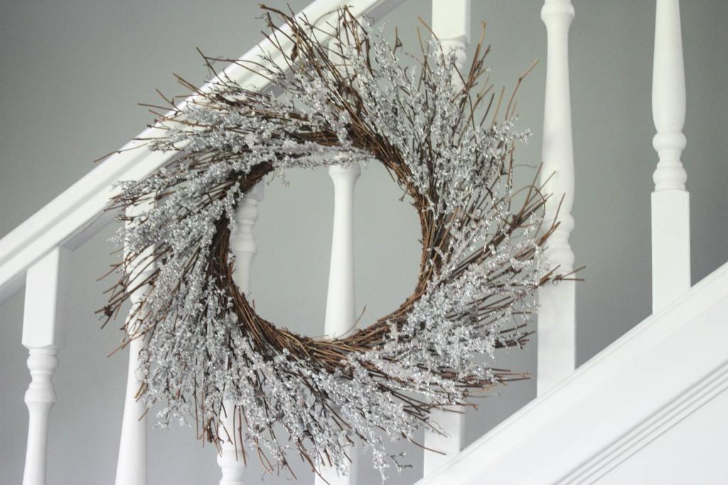 Wreath on stairwell