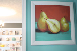 Pear picture and dining room sneak peek