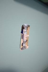 Paint chip storage hack