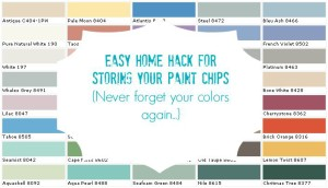 Paint chip home hack