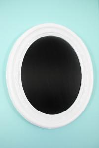 diy chalkboard mirror