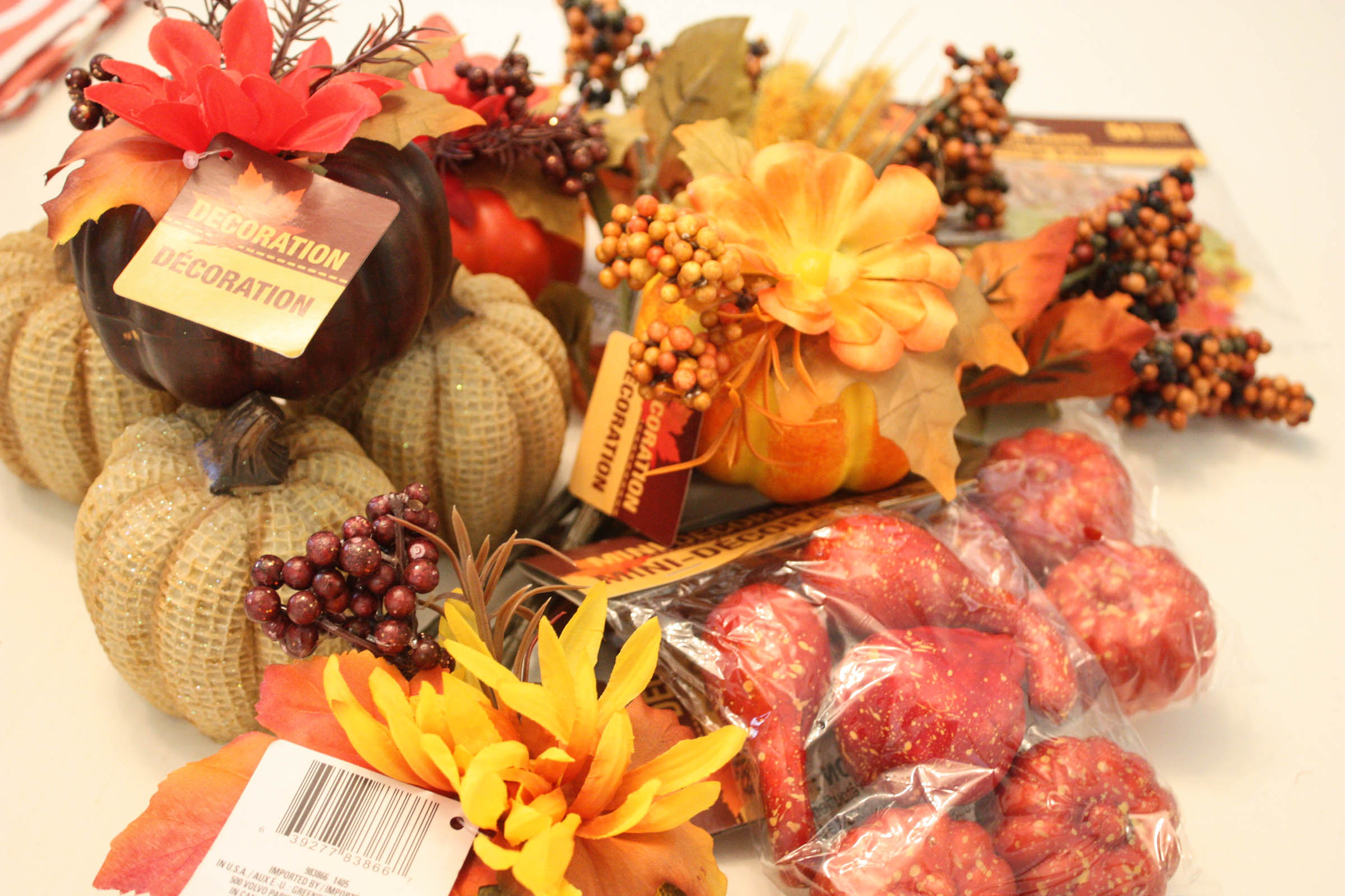 Decorating for fall from dollar tree for Decorations plus
