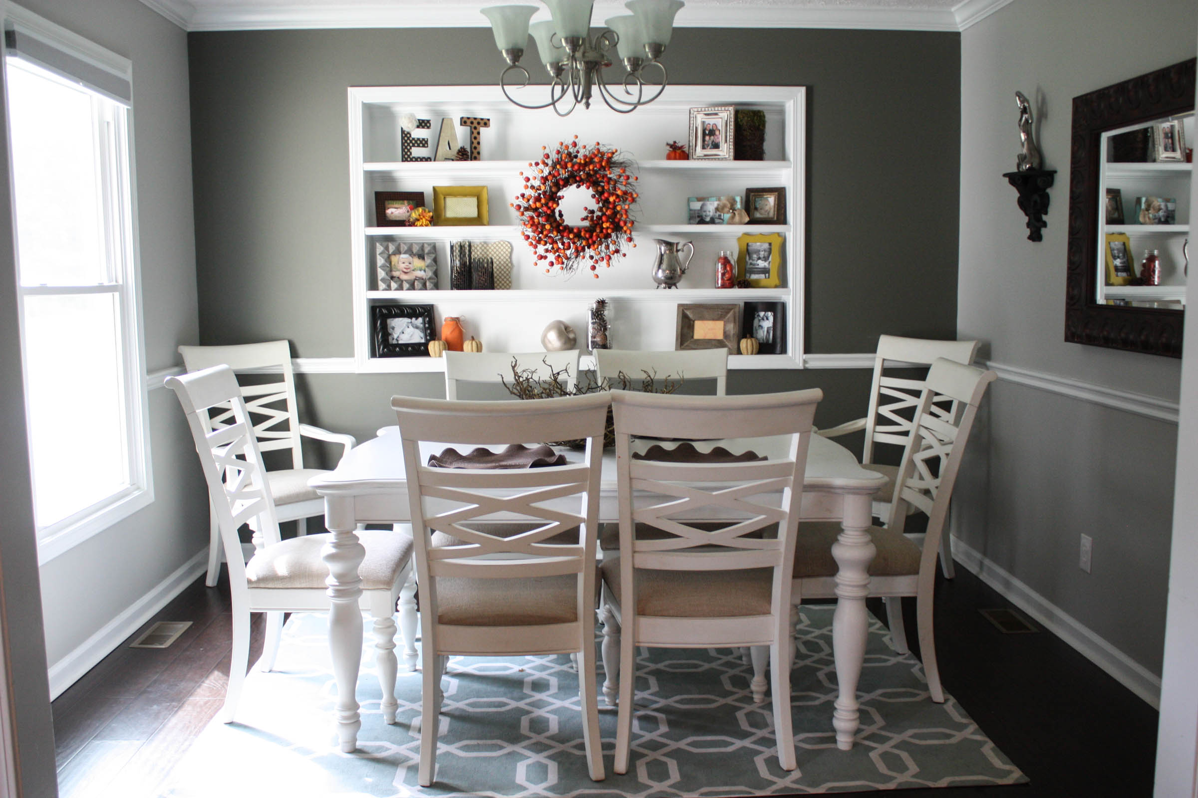 Perfect Budget Fall Dining Room Makeover for under $20 VE45