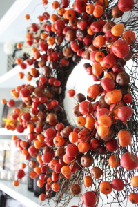 Fall Dining Room Makeover Berry Wreath
