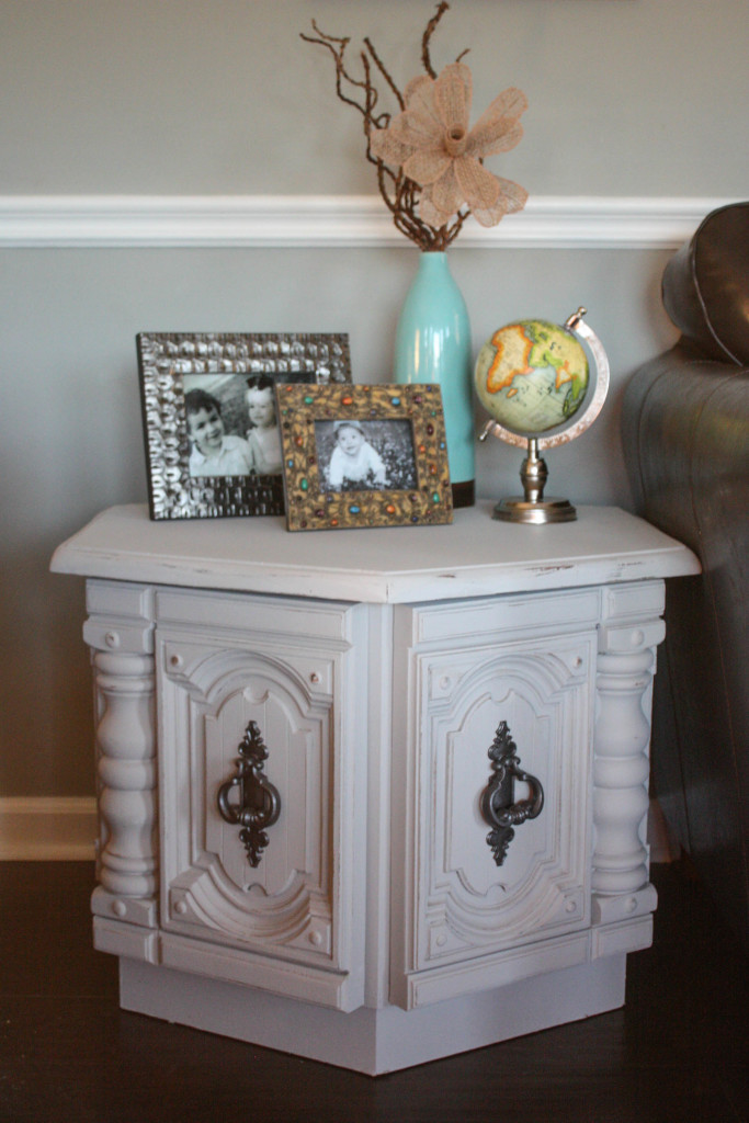 Hexagon Side Table Makeover
