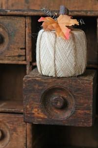 Crochet Yarn Roll Pumpkin