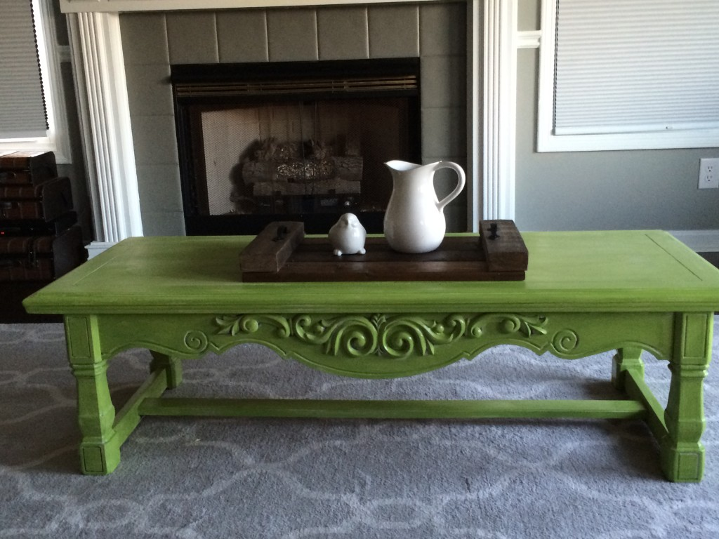 Apple Green Coffee Table Makeover