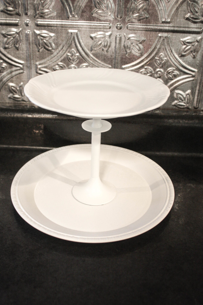 Thrifted Cake Stand