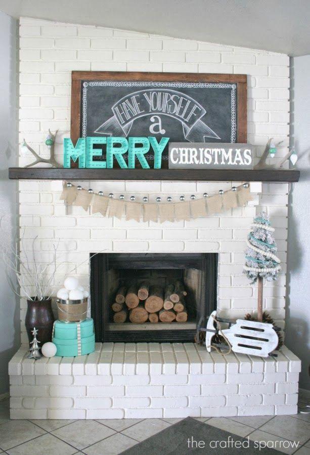 10 Gorgeous Christmas Mantles