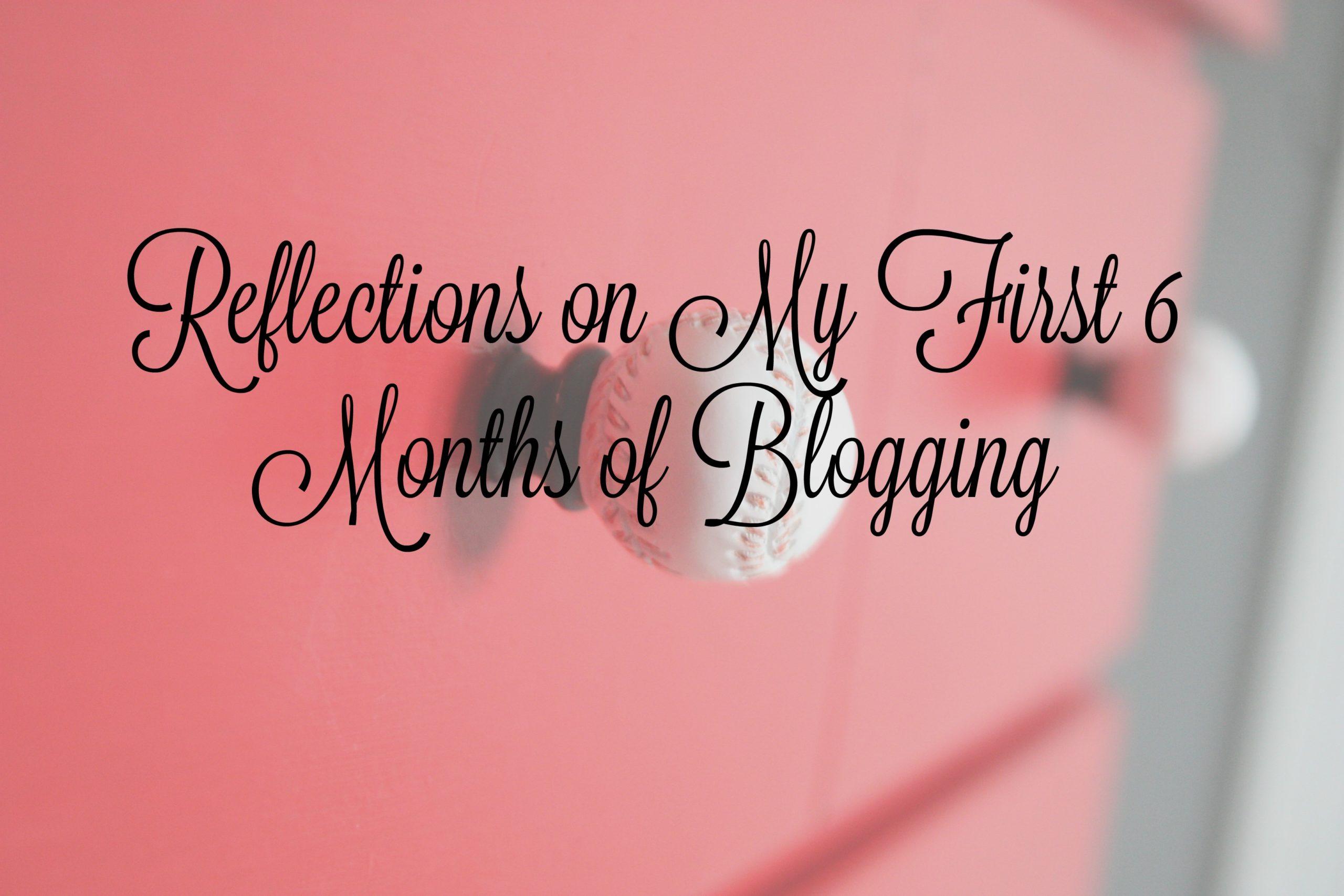 First 6 Months of Blogging