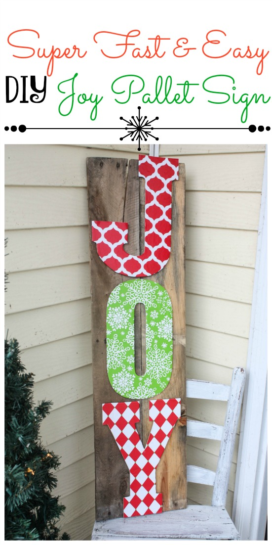 DIY Joy Pallet Sign - Re-Fabbed