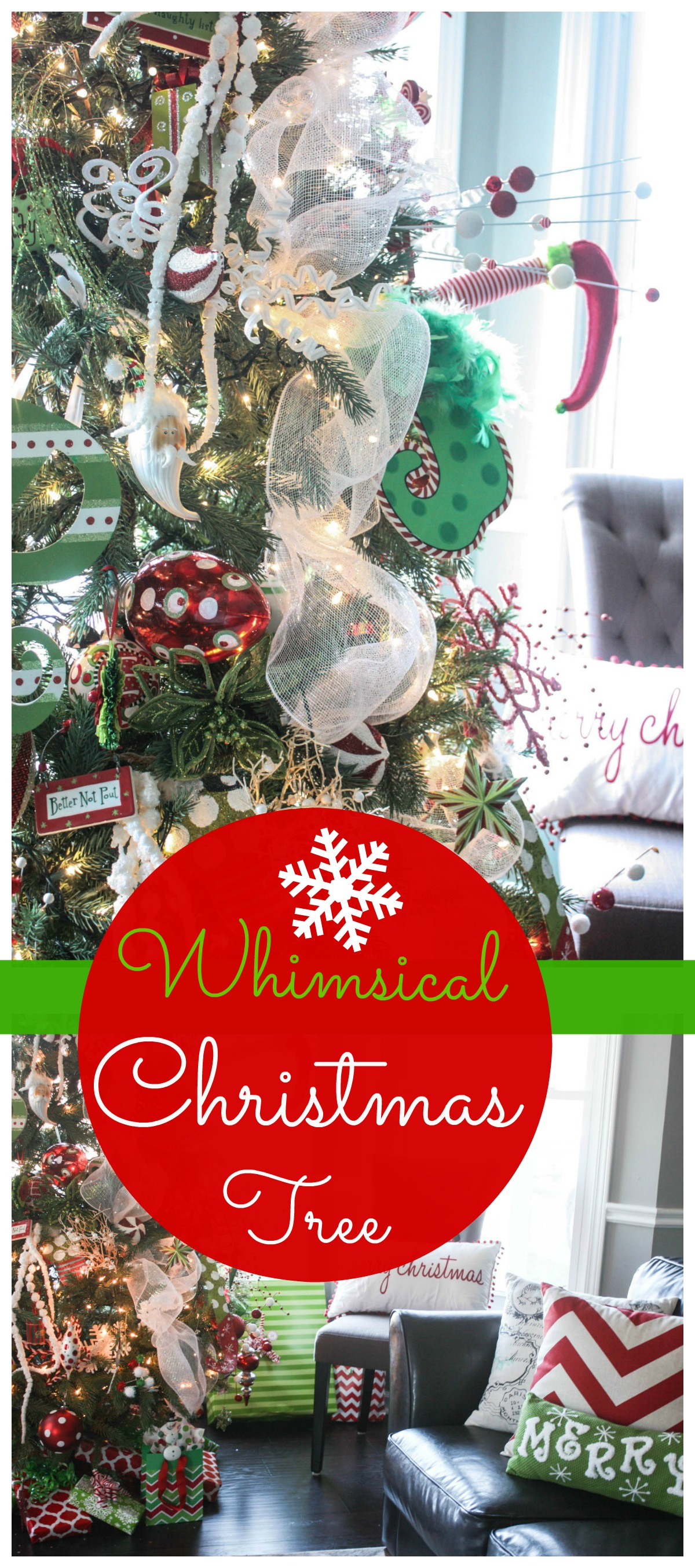 Our whimsical christmas tree for Whimsical decor