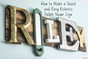 Eclectic Name Sign