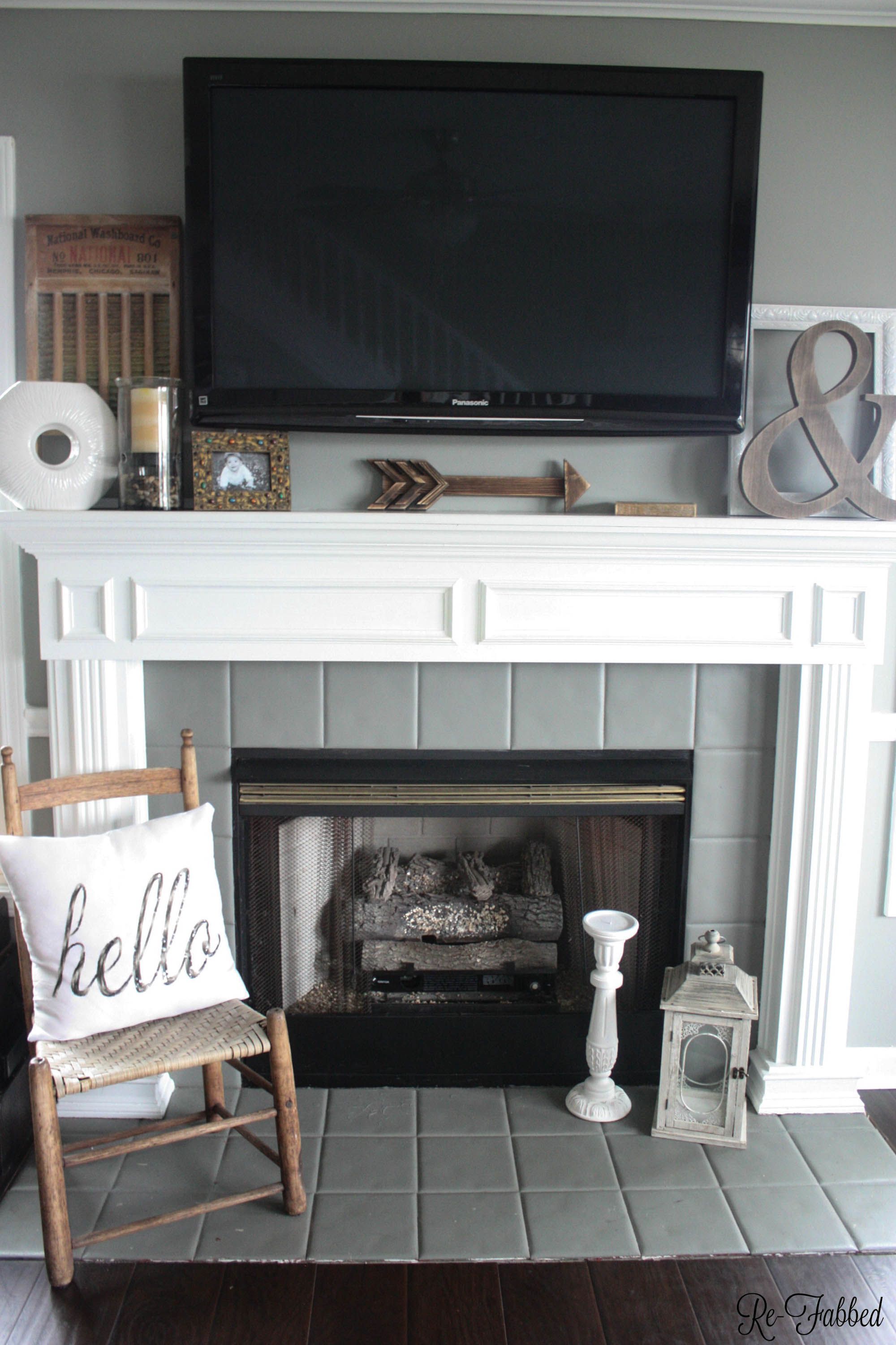 One of the biggest challenges in home decorating is how to decorate your mantel with a TV. This post highlights several different ideas on how to do just that! Must pin to remember this one.
