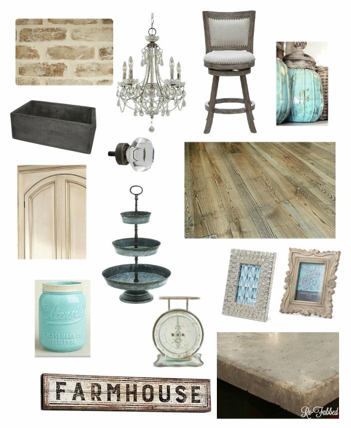 Rustic Glam Farmhouse Kitchen {Dream Design Board}