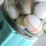 Aqua Gumball Machine with Washi Tape Eggs