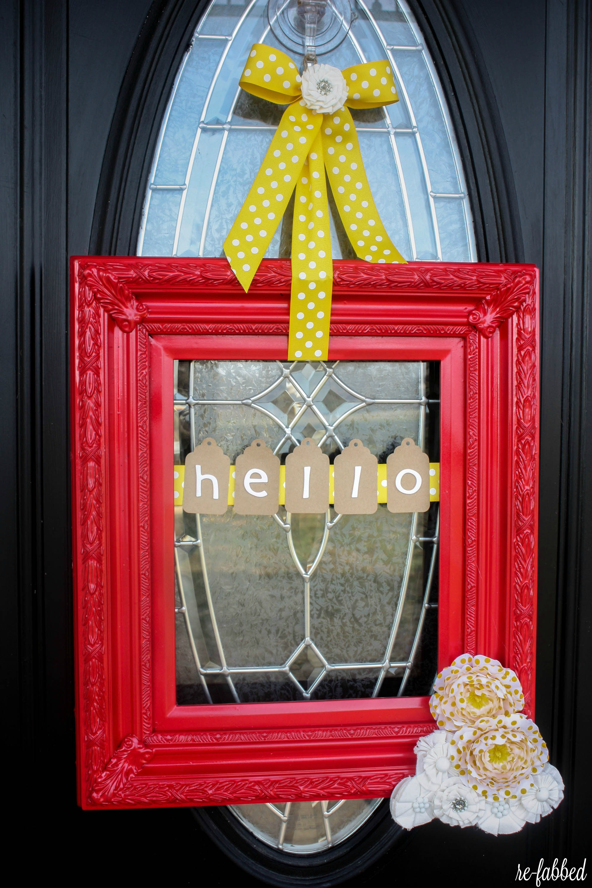 Spring DIY Picture Frame Wreath