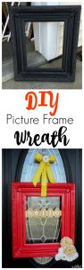 Empty Frames with no glass can be beautifully re-done by turning them into wreaths! This tutorial is so simple, and the end result is so stinkin' cute!