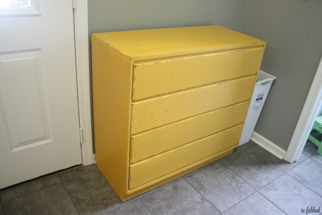 Yellow Chest Makeover