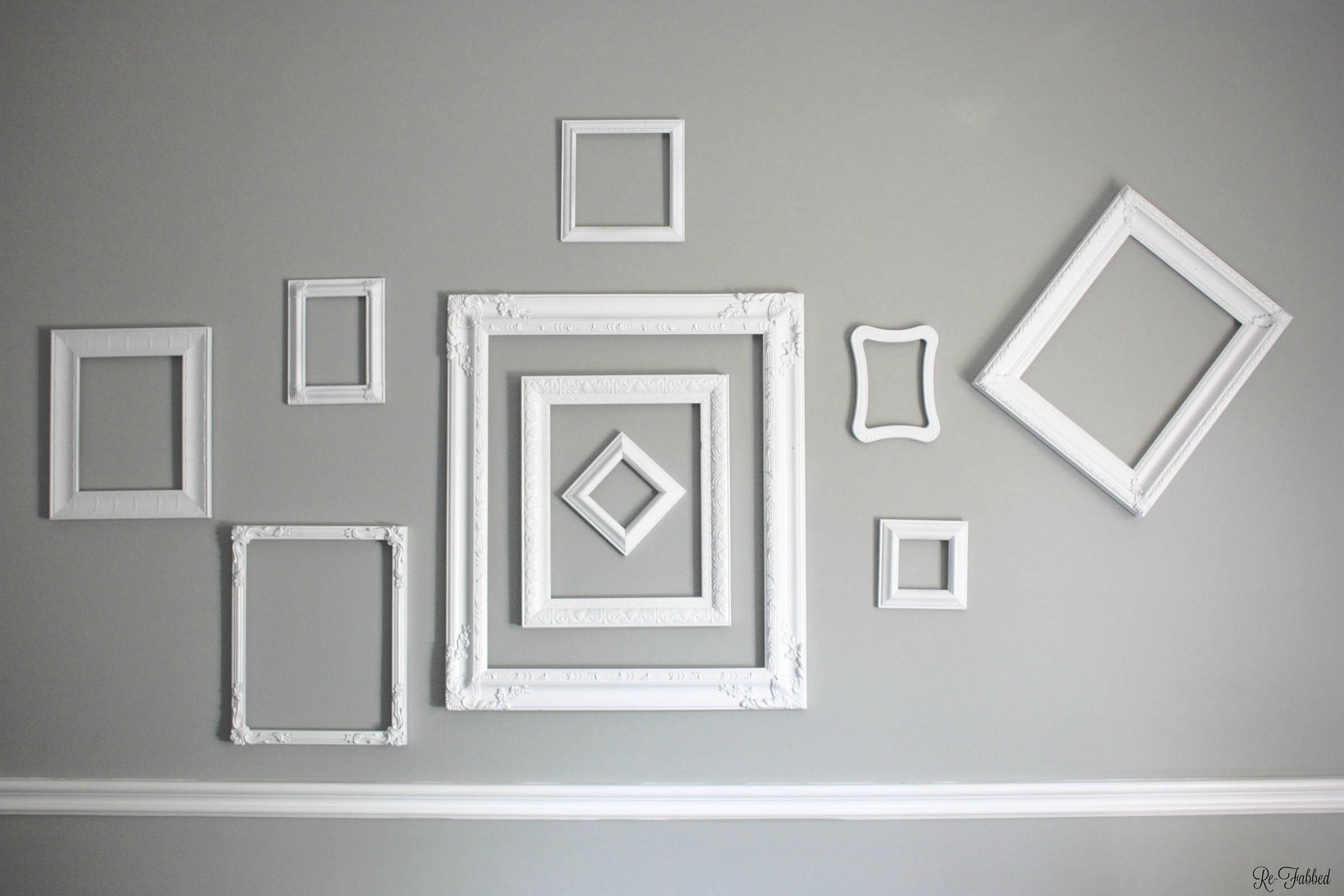 Random Thrift Store Frames turned Cohesive Gallery Wall - Re-Fabbed