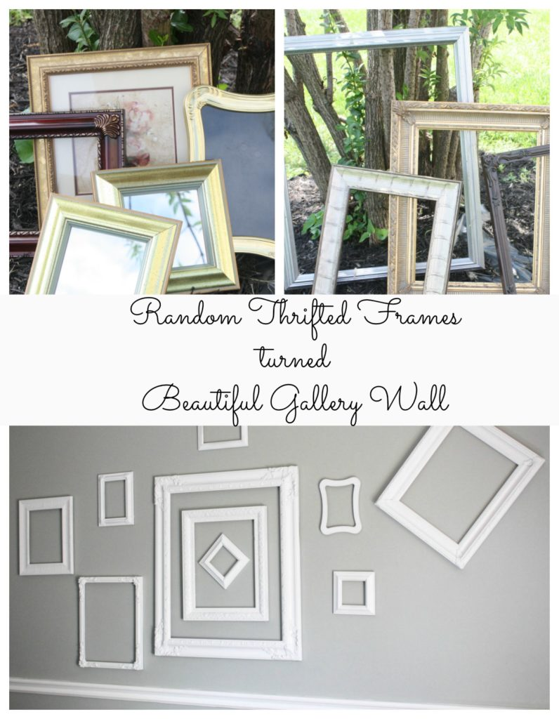 Thrift Store Frames turned Gallery Wall