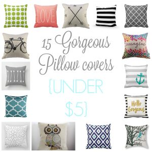 15 Pillow Covers under $5.00