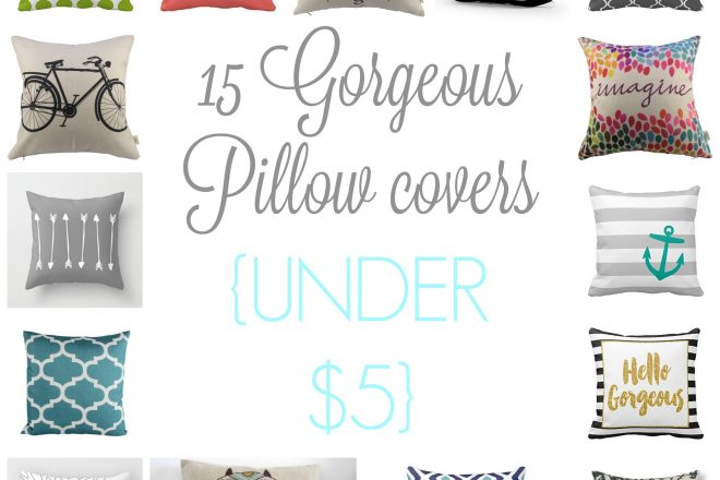 15 Pillow Covers for UNDER $5