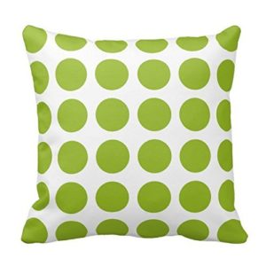 Green Polka Dot Pillow Cover