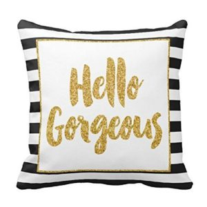 Hello Gorgeous Pillow Cover