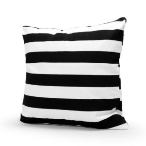 Black and white stripe pillow cover