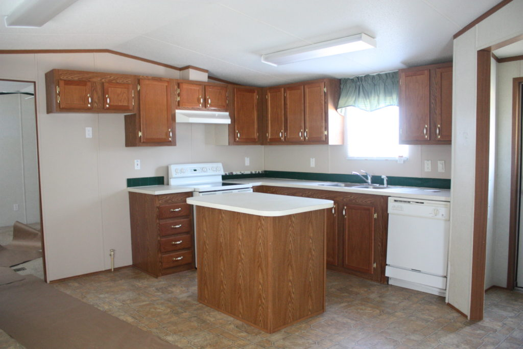 Trailer Kitchen Before