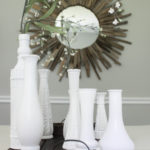 DIY Milk Vase Centerpiece