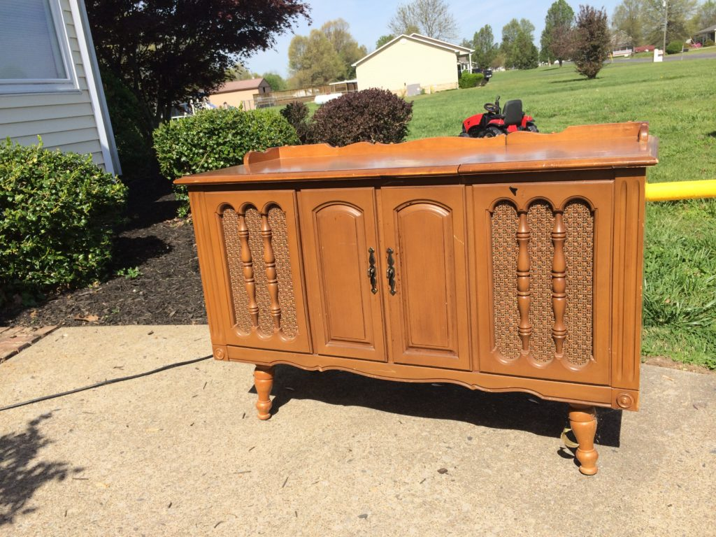 Radio Cabinet Makeover Before