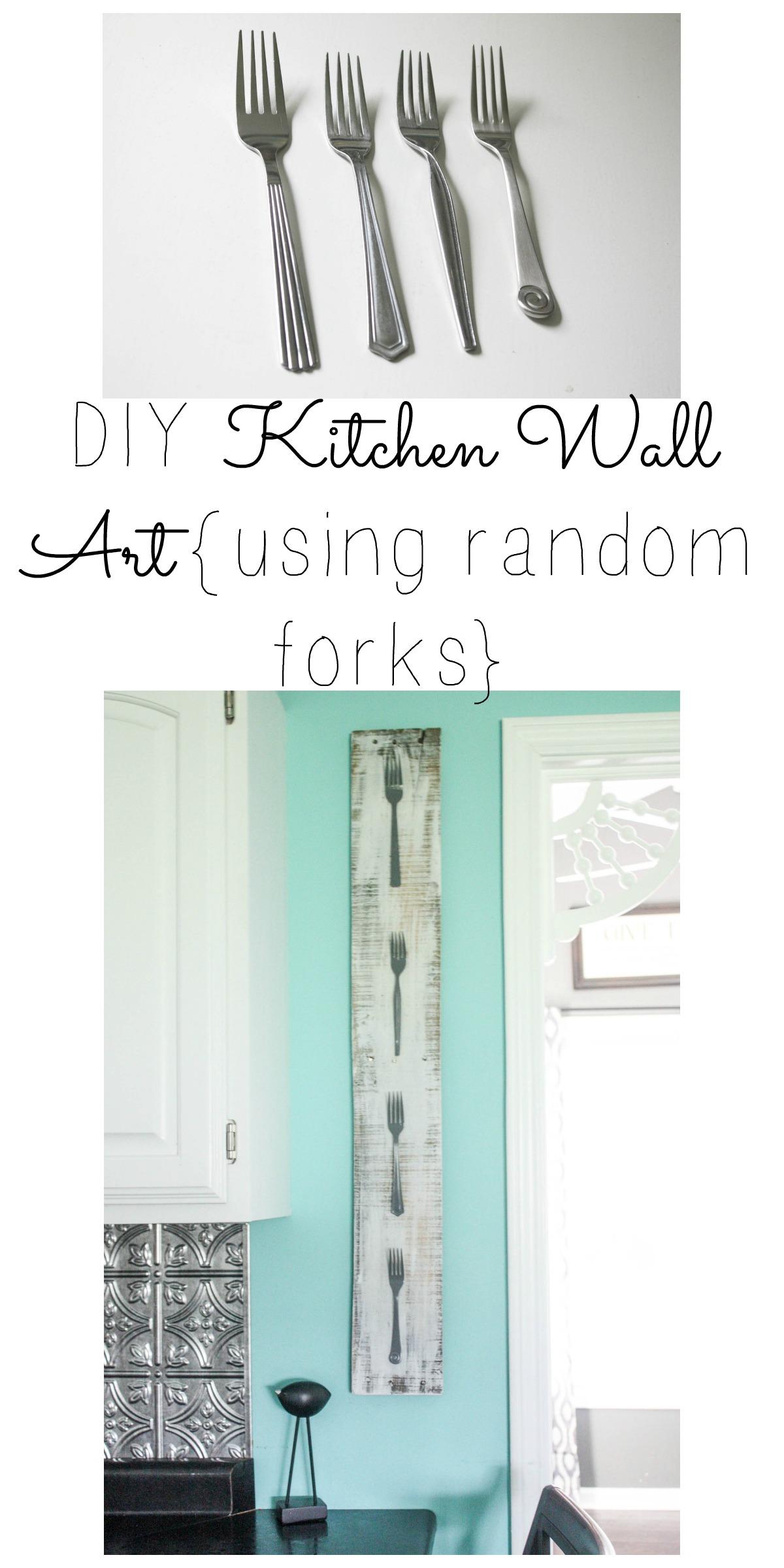 DIY Kitchen Wall Art {Using Random Forks} - Re-Fabbed