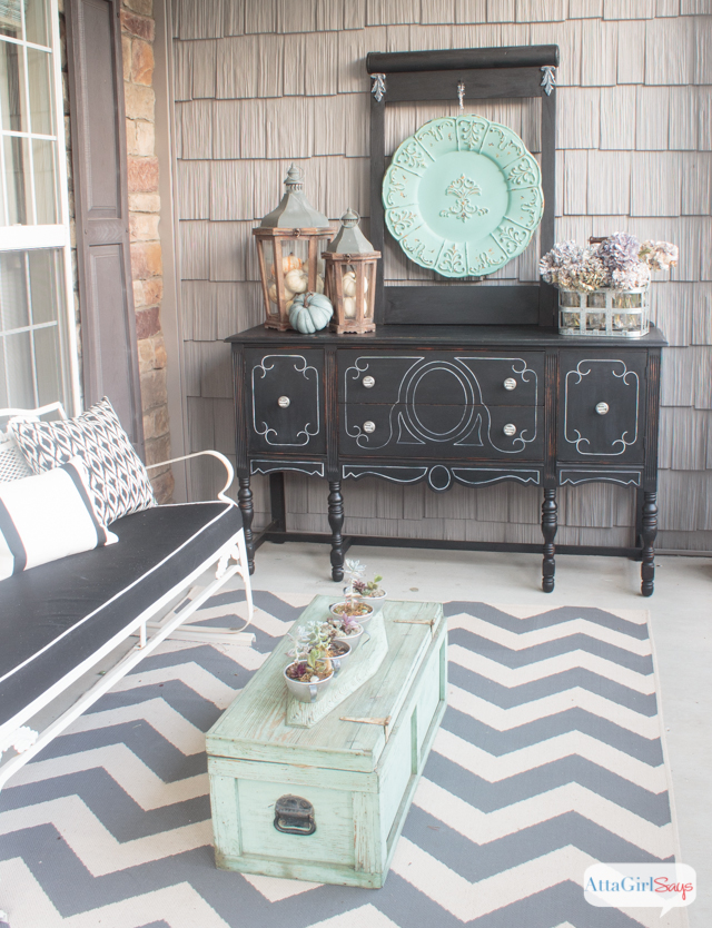 Aqua and Gray Fall Home Tour
