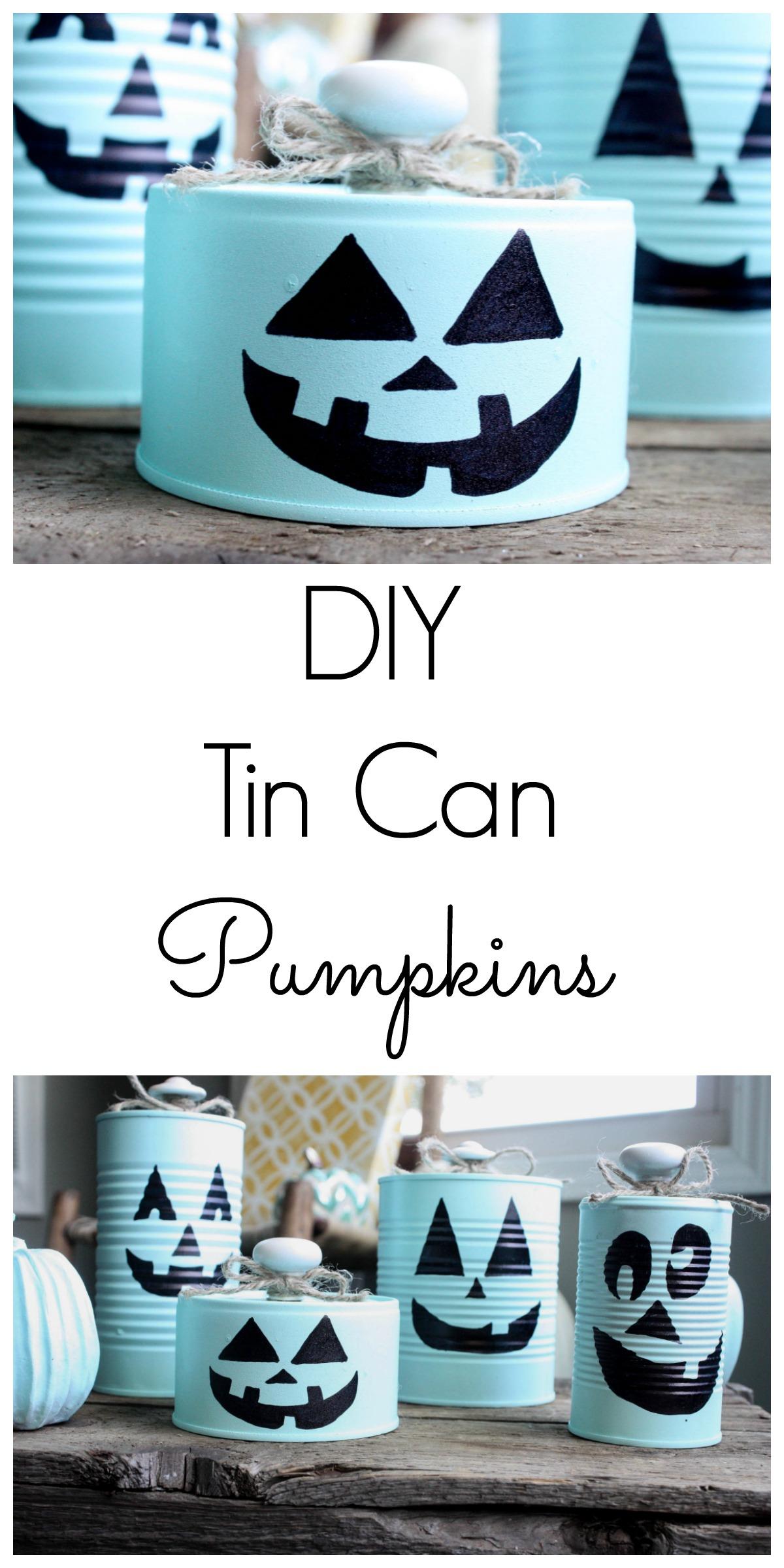 diy tin can pumpkins - re-fabbed