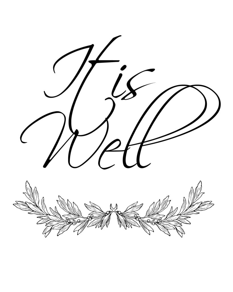 It is Well Printable