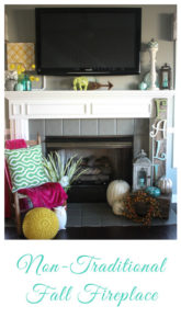 Non-Traditional Fall Fireplace