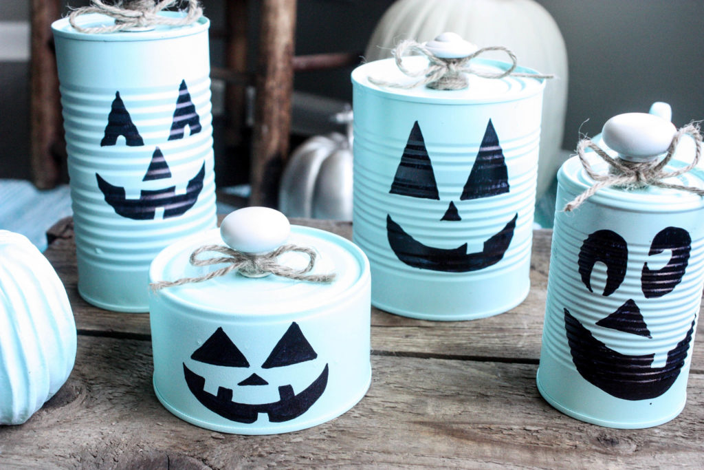 Tin Can Pumpkin Halloween Craft
