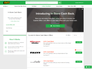 In Store Cash Back from Ebates!