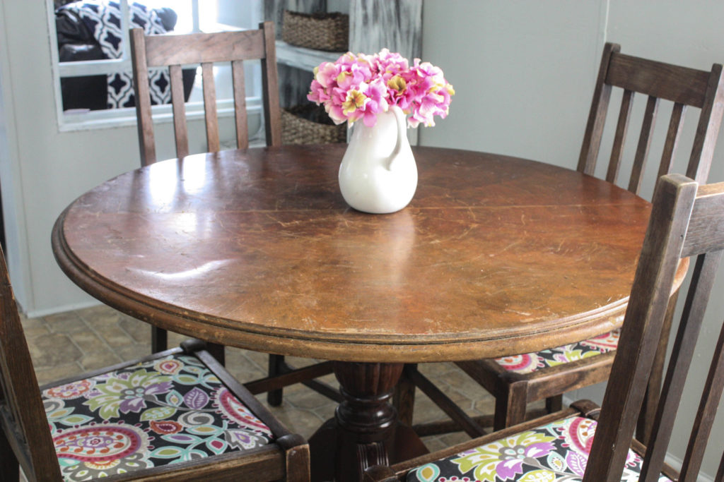 Mobile Home Kitchen Table Before