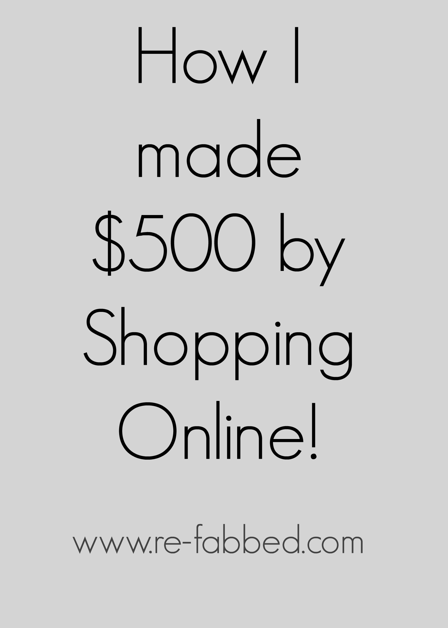 My #1 Online Shopping Secret