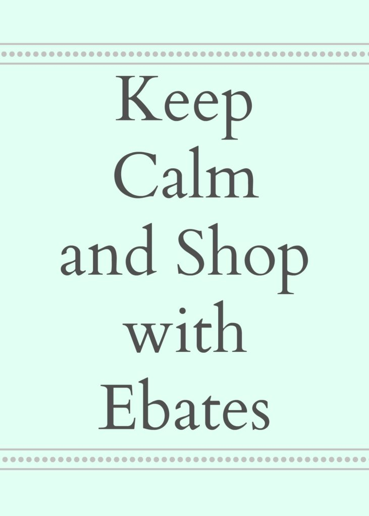 Shop with Ebates and MAKE money by shopping for the things you need!
