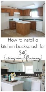 If you are looking for a cheap and gorgeous backsplash but you have a tight budget, this post is for you! See how this kitchen backsplash was installed for just $40 using peel n stick vinyl flooring!