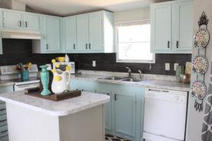 Installing a vinyl flooring kitchen backsplash for $40!