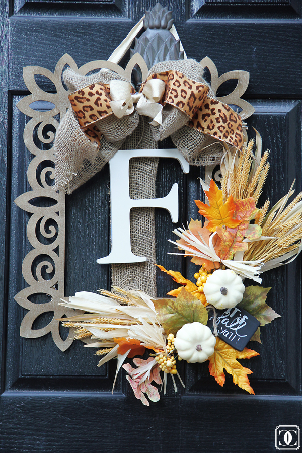 Fall Wreath using Frame